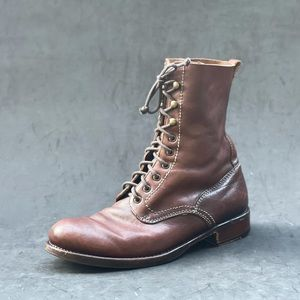 OFFICINE CREATIVE lace up boots